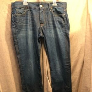 7 For All Mankind Dark Standard Jeans 36 NWOT